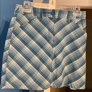 Croft and Barrow Blue Checkered Skort
